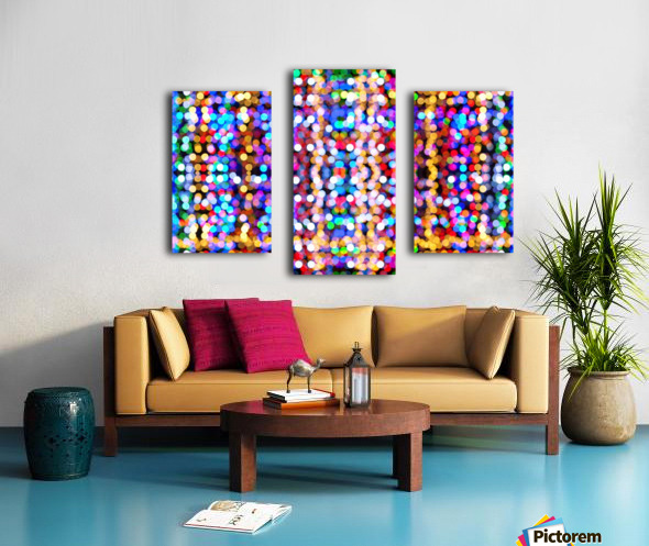 bokeh multicolor Canvas print
