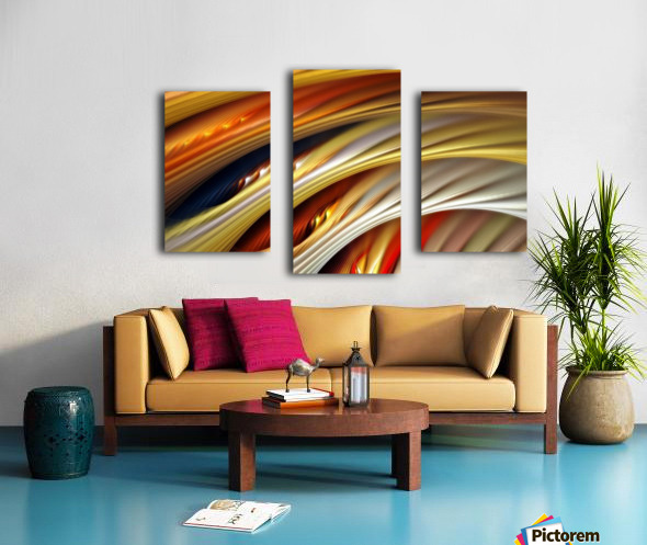 Colors Stripes Abstract Background Strings Canvas print