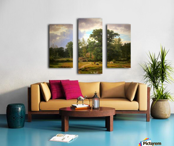 Paesaggio della Westfalia Canvas print