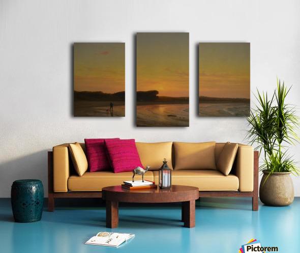 Second Beach Newport Canvas print