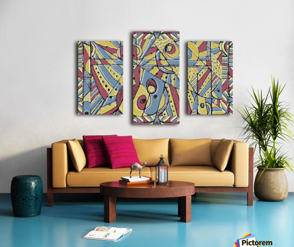 Multicolor Abstract Canvas print