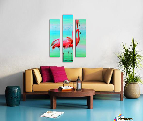 Фламинго на рассвете  Canvas print