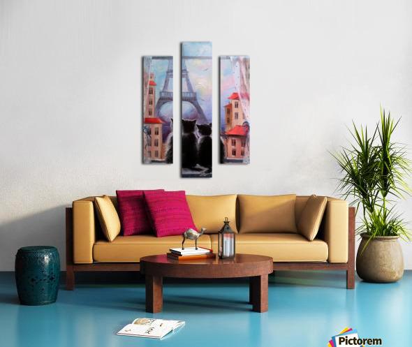 Друзя в Париже Canvas print