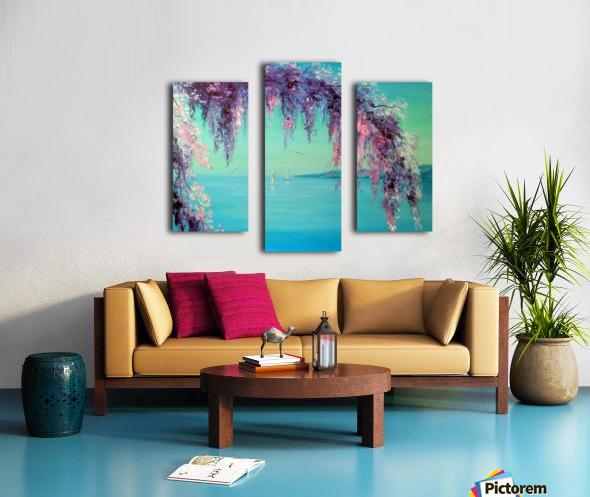 Глициния у моря Canvas print