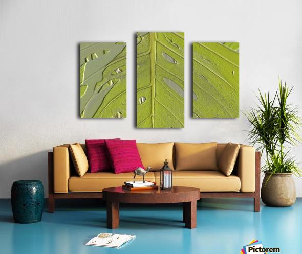 Leaf Texture Background Canvas print