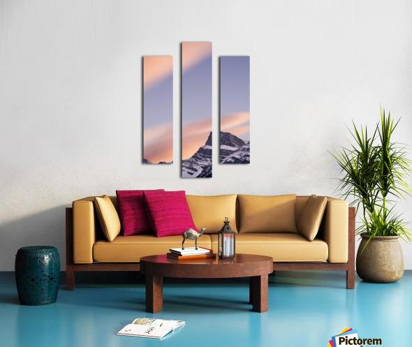 Clouds At Sunset Above Mountain Peaks, Kootenay Plains, Alberta, Canada Canvas print