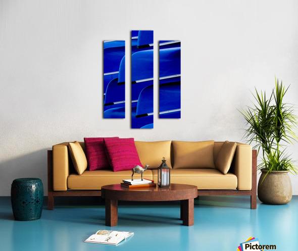 Blue Canoes Canvas print
