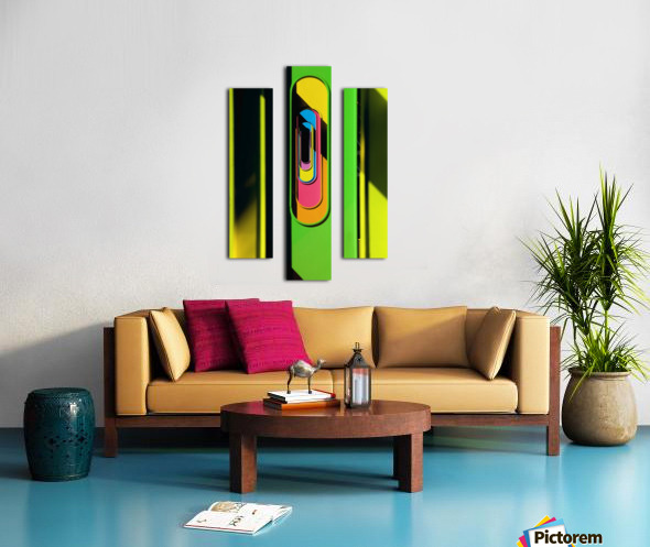 Looking Through Colorful Ovals Canvas print
