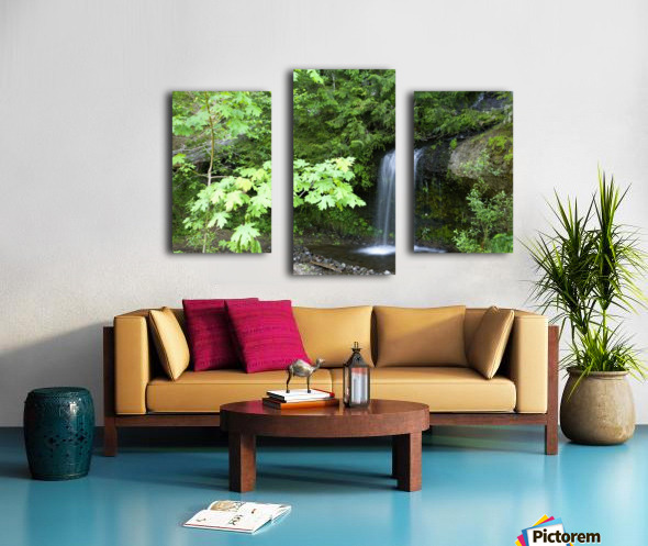 Waterfall In The Forest Canvas print