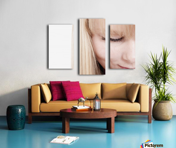 Closeup Of A Woman's Face Canvas print
