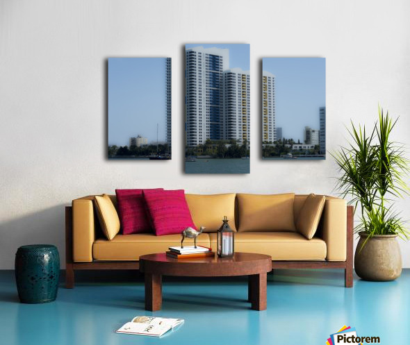 Miami Beach Buildings Impression sur toile