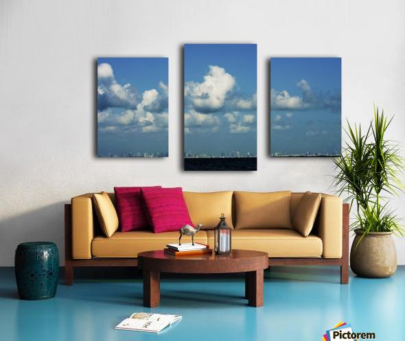 Miami Skyline Impression sur toile
