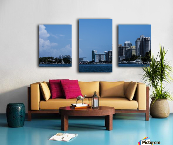 Biscayne Bay Canvas print