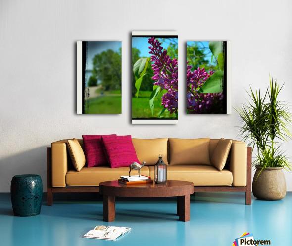 Purple Flowers Impression sur toile