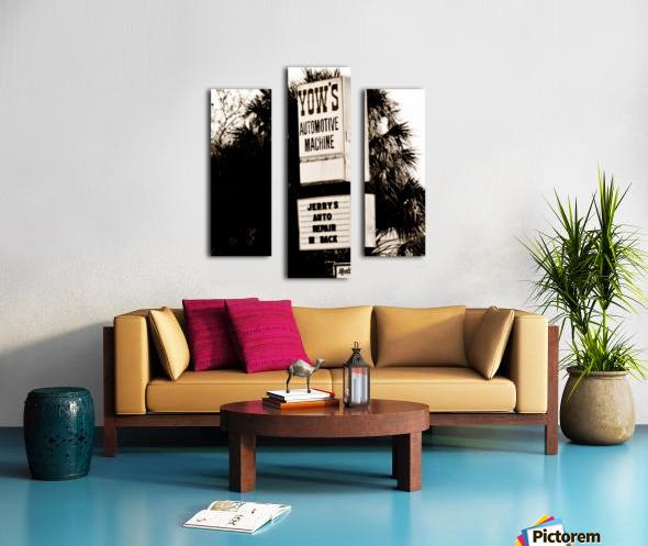 Vintage Sign Impression sur toile