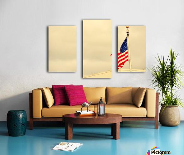 American Flag Impression sur toile