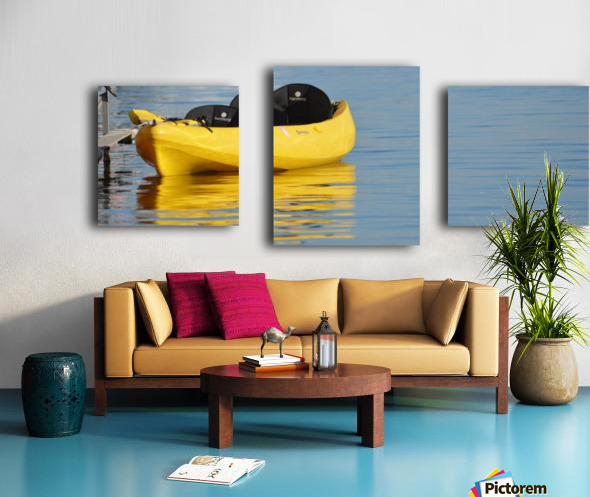 Yellow Kayak Canvas print