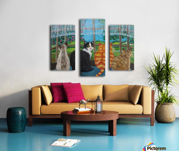 cats in window Canvas print