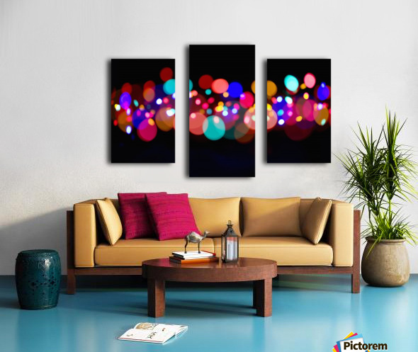 The Blur Of Coloured Lights; Edmonton, Alberta, Canada Canvas print