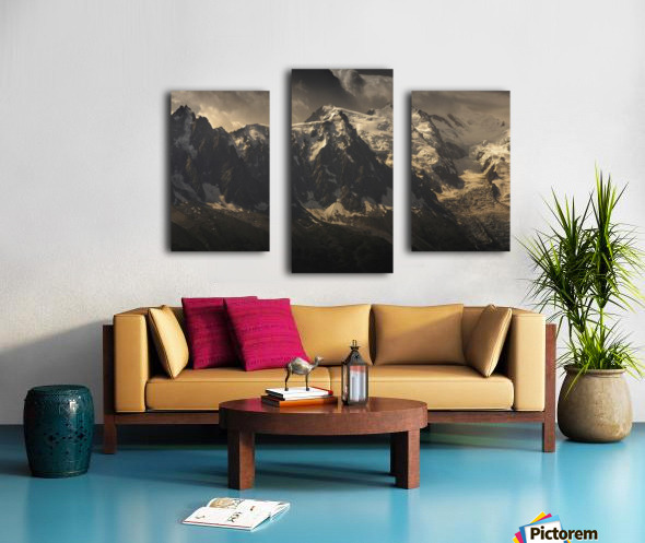 Aiguille du Midi and Mont Blanc, French Alps Canvas print