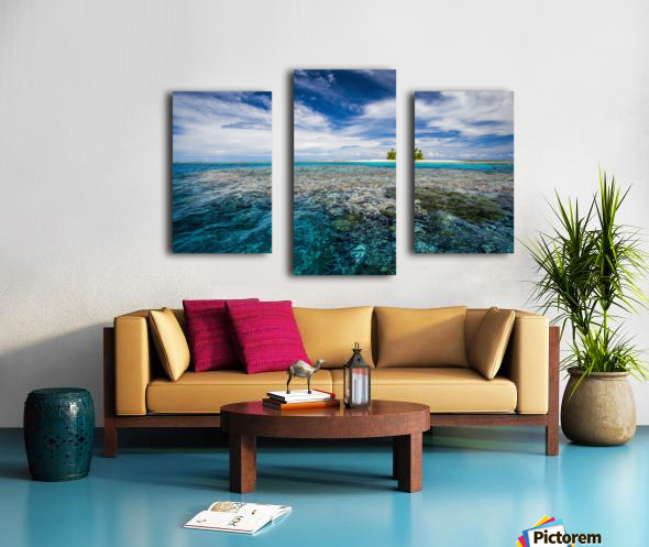 An island that forms part of the marine park, near the Tuvalu mainland; Tuvalu Canvas print