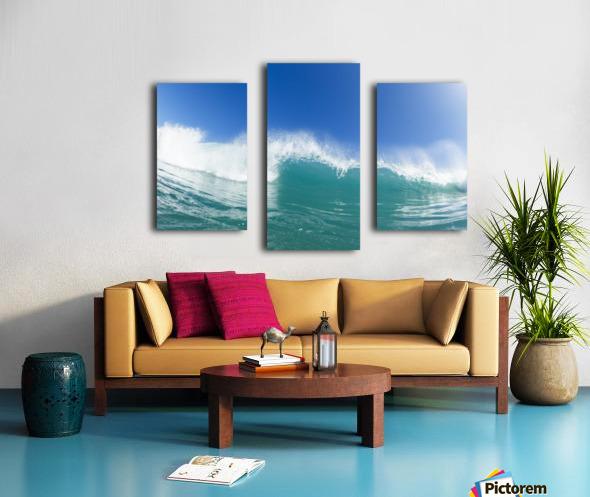 Blue Ocean Wave and Sunny Blue Sky Canvas print