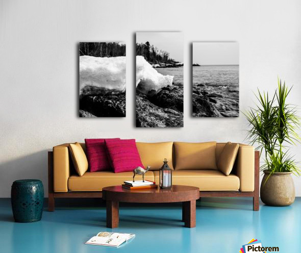 Spring Lakeshore Canvas print