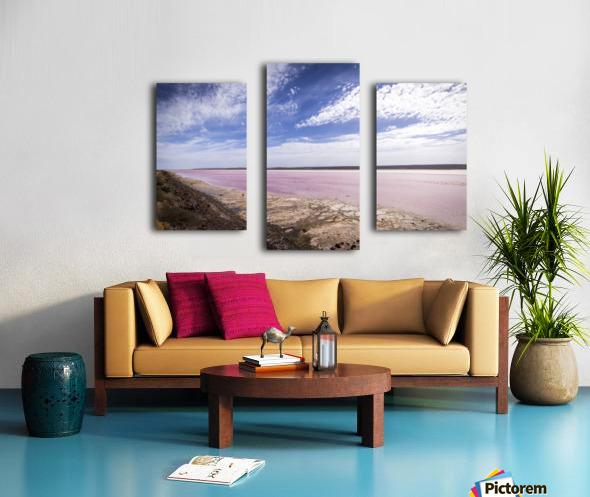 Pink Lake Impression sur toile