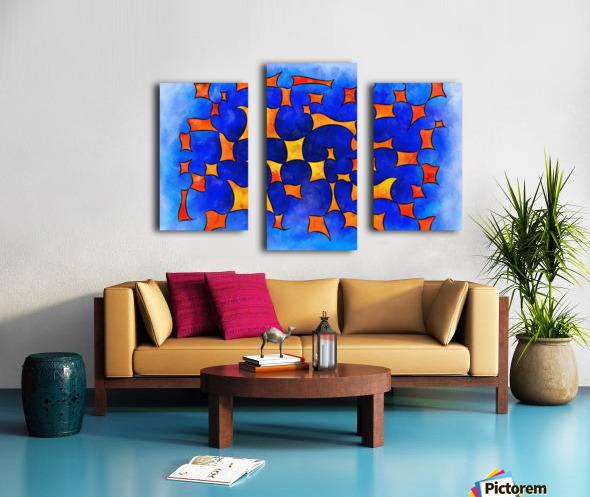 Blesmios V1- melting cubes Canvas print