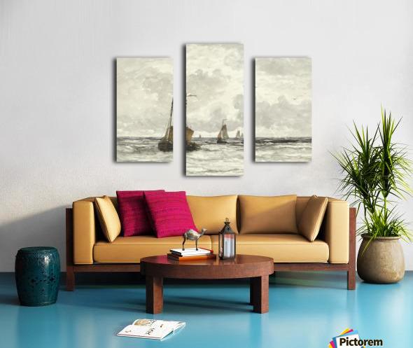 Vissersschepen in de branding Canvas print