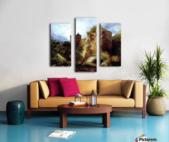 A deserted castle Canvas print