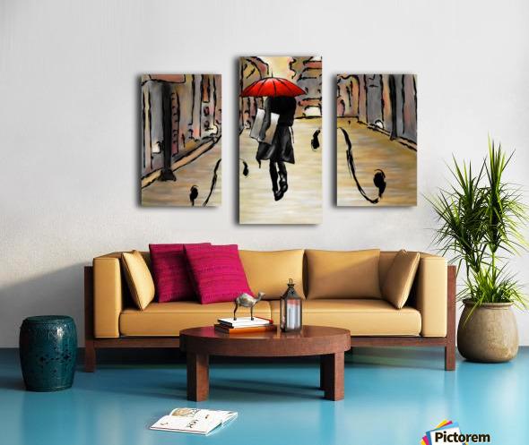 Hafanissia V1 - lady umbrella Canvas print