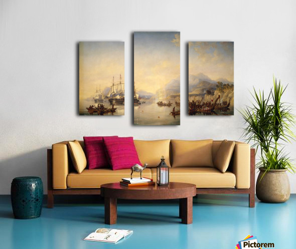 Erebus' and the 'Terror' in New Zealand Canvas print