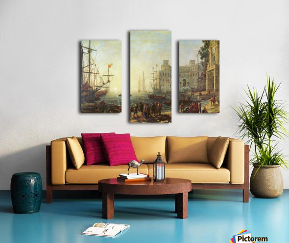 Seaport with the Villa Medici Canvas print