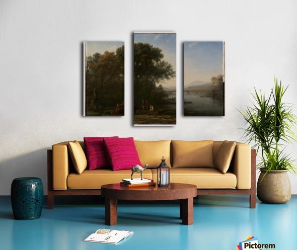A few people in a lagoon Canvas print