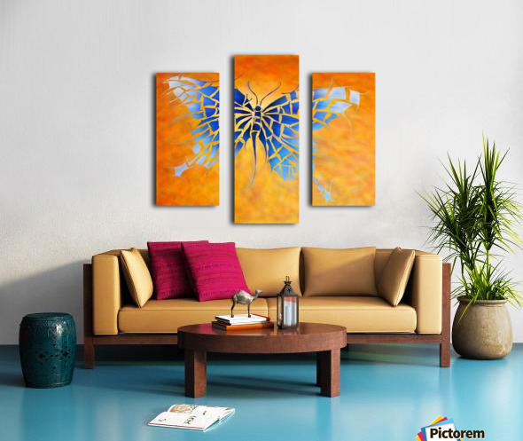 Tropenillo V1 - the blue butterfly Canvas print