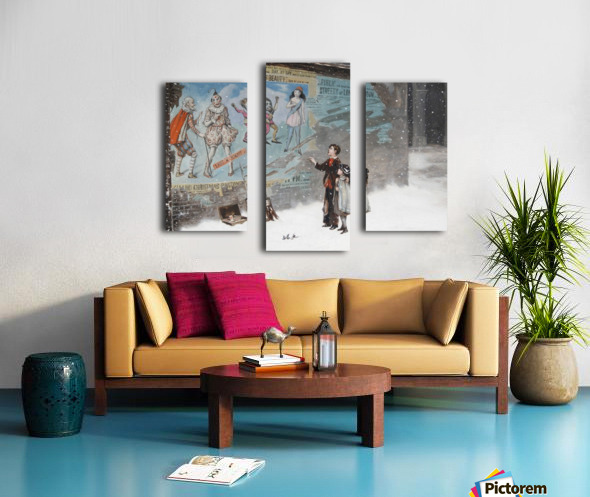 Watching a theatre poster Canvas print