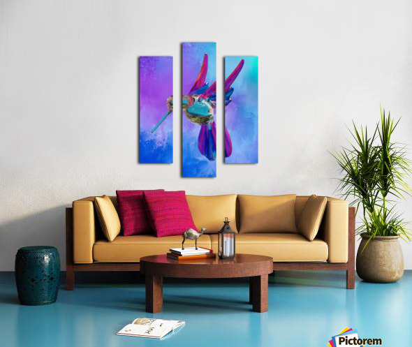 Glass Bird Abstract  Canvas print