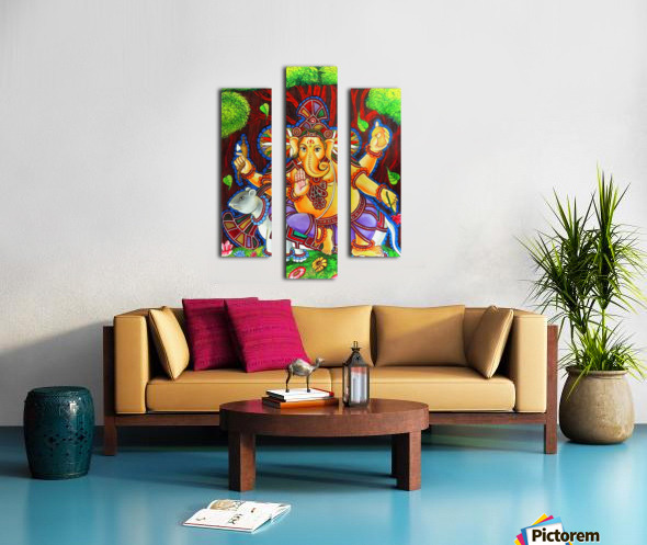 GANAPATHY MURAL Canvas print