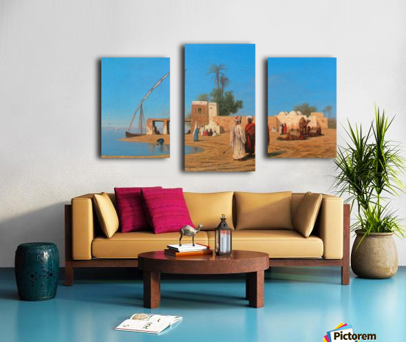 A Village on the Shores of the Nile Canvas print