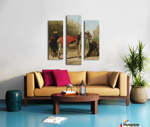 Donkeys in Cairo Canvas print