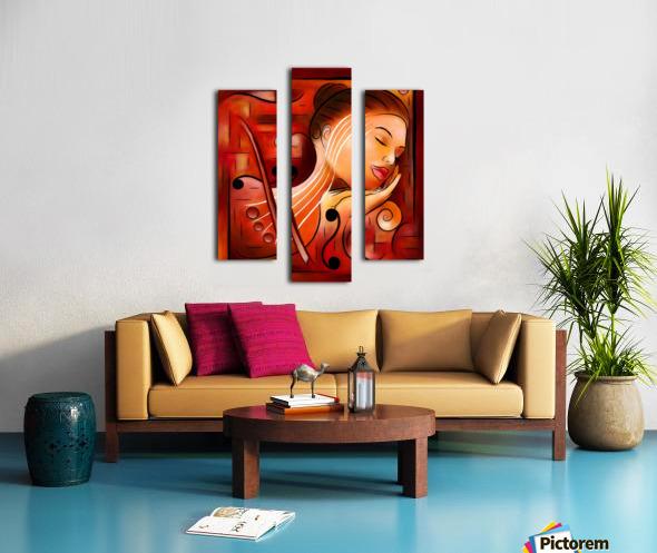 Casselopia - Violin dream Canvas print