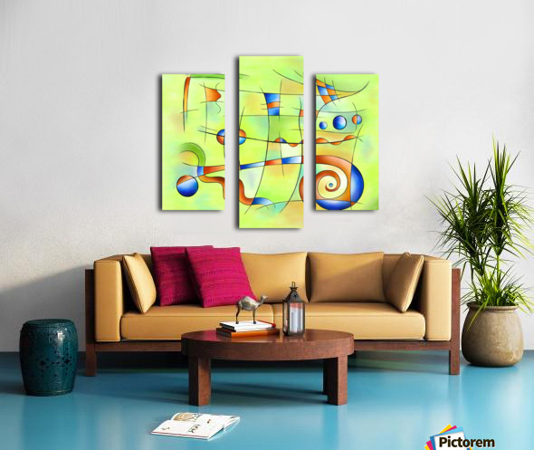 Frenesia - mad world Canvas print