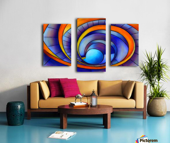 Melanissia - abstract moonrise Canvas print