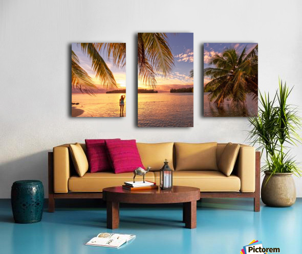 Tahitian sunsets Canvas print