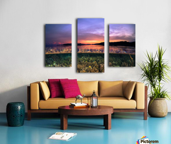 Raja Ampat sunrise Canvas print