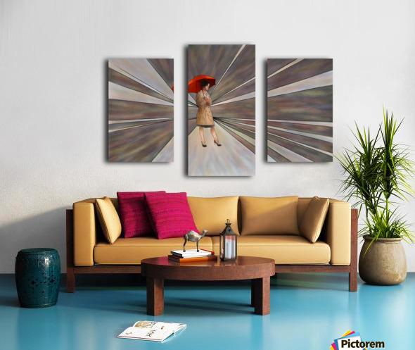 Limessia - beauty with umbrella Canvas print