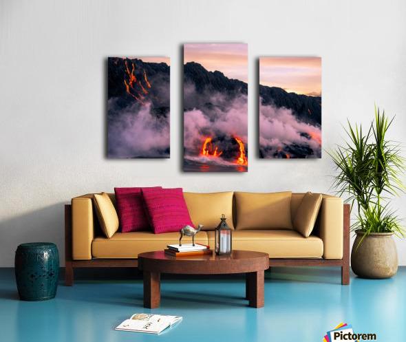 Sunrise at the lava flow Canvas print