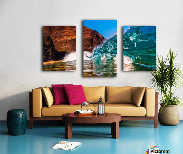 Glass wave Canvas print