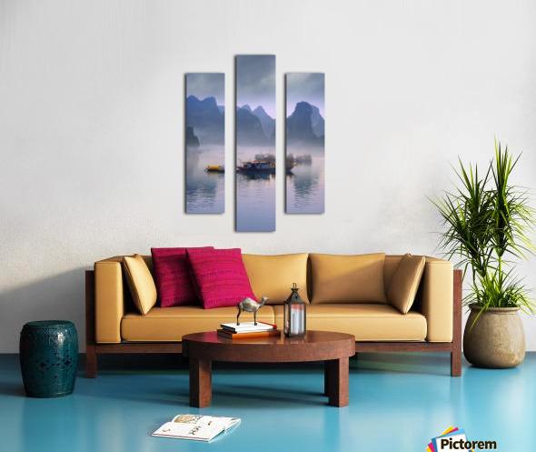 Junks On Halong Bay Canvas print
